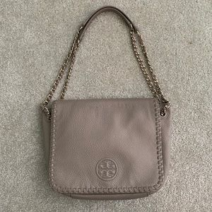 Tory Burch stone flap Marion shoulder bag
